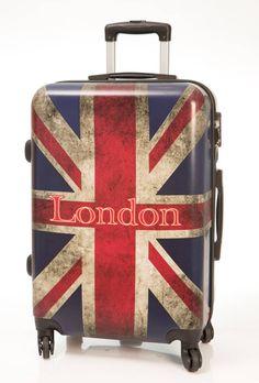 Maleta grande de viaje modelo New London, es una maleta dura de 4 ruedas de goma silenciosa, con diseño muy moderno, envío gratis en un día