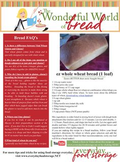 I LOVE the recipes and handouts and information on this website.  I am terrible at baking, but this bread comes out great every time!