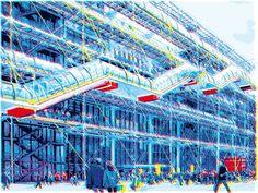 Pompidou - Roberto Sieni - from 192€ - Pompidou è un'opera realizzata da Roberto Sieni, artista che lavora da anni come grafico; la sua attività spazia dalle realizzazioni editoriali alle pubblicitarie alle opere d'arte.
