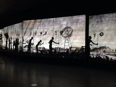 Awesome installation More Sweetly Play The Dance by South African artist William Kentridge @ EYE Amsterdam