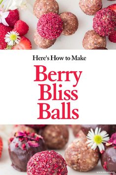 Nowadays, it seems near impossible to find easy healthy dessert recipes. These vegan berry bliss balls are made with the best healthy ingredients and make a perfect guilt free dessert or healthy chocolate snack.  #easyvegandessert #chocolateblissballs #refinedsugarfree Delicious Vegan Recipes, Healthy Dessert Recipes, Smoothie Recipes, Yummy Food, Healthy Chocolate Snacks, Healthy Cookies, Chocolate Recipes, Bliss Balls, Sugar Cravings
