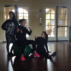 Super soul Sunday sister sweat session. #kourtneyk #kardashians