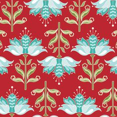 Riley Blake Designs Apple Of My Eye Apple Floral Red by The Quilted Fish