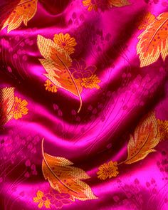 Fashion Fabric African Brocade - 102 Fuschia