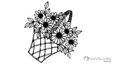Hand Embroidery Designs for Baby Clothes | Flower Basket | HandiWorks #47