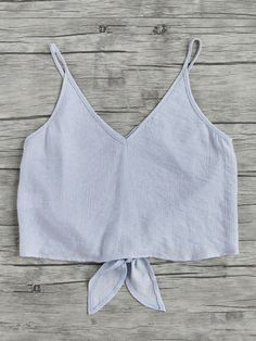 Button Placket Knot Front Cami Top from a great selection of women's fashion clothing & more at MakeMeChic. Big Fashion, Fashion Outfits, Womens Fashion, Fashion Fall, Summer Outfits, Casual Outfits, Cute Outfits, Hoodies For Sale, Faux Leather Pants