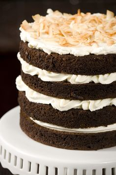 {Chocolate Coconut Milk Cake with Coconut Buttercream} (this was a contender for bryan's birthday cake)