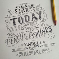 Beautiful sketched hand lettering