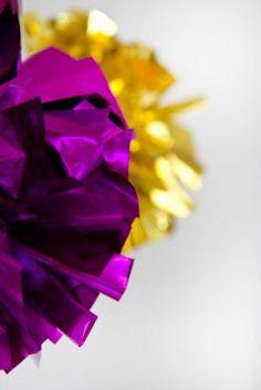 DIY Fringe Mylar Poms for New Year's Eve   Studio DIY®