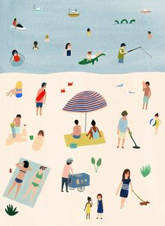 Feeling beachy? Illustration by Kate Pugsley