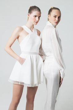 French designer Sakina Shbib launched her first Ready-to-wear 2017 collection. Sakina associates her two strongest signatures: structure and elegance. Hereby is the Lookbook shot by photographer Mokhtar Beyrouth.  Tags: Pret a porter, Sakina Paris, Fashion designer, Arab, craftsmanship, elegantly, allure, Parisian, style, garments, minimalism, French look, French style, French elegance, fashion photography, editorial, fashion editorial, mode, photo de mode, photoshoot, dress, blouse, white