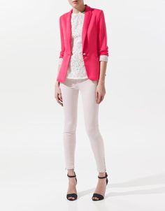 Blazer Jogging Zara Pink – Madame Chica