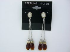 Natural Red Garnet Silver Sterling Silver Earrings Diamond Dangle Earrings, Garnet Earrings, Garnet Gemstone, Sterling Silver Earrings, Women's Jewelry, Silver Jewelry, Natural Red, Red Garnet, Beautiful Earrings