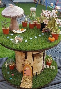 37 Beautiful Fairy Garden Ideas If you love fairy tales and are loo. 37 Beautiful Fairy Garden Ideas If you love fairy tales and are looking for a new them Fairy Garden Plants, Fairy Garden Houses, Fairies Garden, Flowers Garden, Garden Crafts, Garden Projects, Diy Projects, Garden Kids, Easy Garden