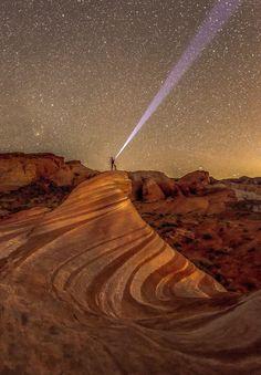 Starry Night in Fire Wave Rock (Nevada) by Bon Koo / 500px