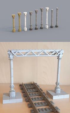 Part 5 - Pillars Lego Design, Legos, Lego Furniture, Box Container, Amazing Lego Creations, Lego Trains, Lego Construction, Lego Modular, Lego Castle