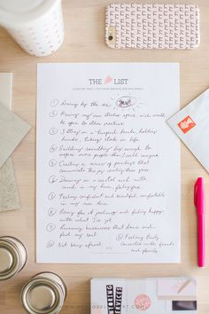 The Heart List: Chapter Three. Click through to get your own printable template, and to share your lists with us!