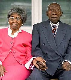 Herbert and Zelmyra Fisher of New Bern, N.C., hold the world record for life in wedded bliss: 85 years. He's 104, and she's 101.