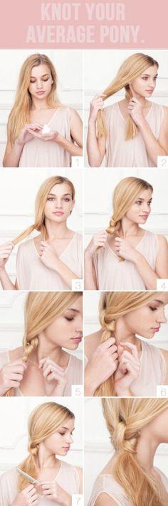 Unique ponytail