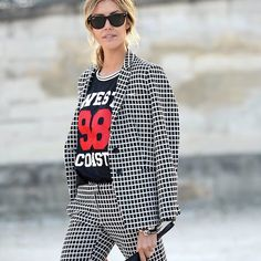 Checked Suit #StreetStyle http://www.videdressing.us/selection-women-style-team-love/sel-s1503.html