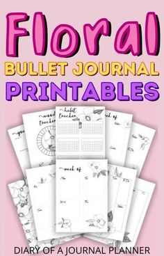 Spring is here and what better way to celebrate than a spring-themed bullet journal! Get all the best floral/spring bullet journal printables here! #bulletjournalflowers #bulletjournalprintables #spring Bullet Journal For Beginners, Bullet Journal Hacks, Bullet Journal Printables, Bullet Journal Mood, Bullet Journal Themes, Bullet Journal Layout, Bullet Journal Inspiration, Daily Planner Pages, Printable Planner Pages