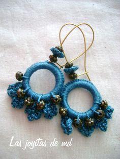 Mis Joyitas de Croché: Pendientes azules