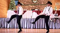 Country Music Lyrics - Quotes - Songs Vince gill - Cowboys Thrill Wedding Guests With Epic '8 Seconds' Dance - Youtube Music Videos http://countryrebel.com/blogs/videos/cowboys-thrill-wedding-guests-with-epic-8-seconds-dance