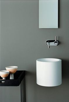 Share Via 36 a Bathroom Sink is not an easy matter. Because there are many sink designs out there. The selection of the wrong sink will certainly damage the interior theme … Bathroom Sink Design, Bathroom Interior Design, Bathroom Faucets, Modern Bathroom, Minimal Bathroom, Bathroom Mirrors, Bathroom Cabinets, Bathroom Storage, Small Bathroom Furniture