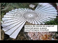Centro de mesa en espiral part 2./ LanaTerapia- Crochet - YouTube