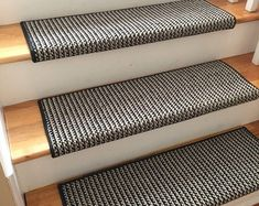 Sunrise Evening Cloud New Zealand Wool!-TRUE Bullnose™ Padded Carpet Stair Tread Runner for Style, Comfort & Safety (Sold Each) Staircase Carpet Runner, Carpet Stair Treads, Carpet Stairs, Paper Flower Wall, Paper Flower Backdrop, Paper Flowers, Braided Area Rugs, Braided Rug, 3d Wall Decor