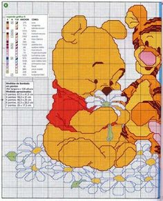 Ponto Cruz da Drayzinha: Graficos - Ursinho Pooh