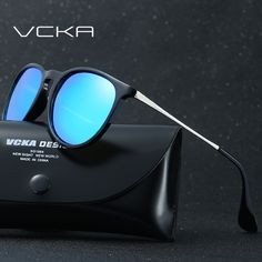 VCKA Sunglasses Women Colorful Frame Cat Eye Sunglasses Men Mirror Half Frame Oval Lens Brand Designer Fashion Ladies Eyewear #Affiliate