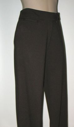 New EILEEN FISHER Ponte Knit Boot Cut Pants S/M (Run Large) Dark Brown #EileenFisher #Pants