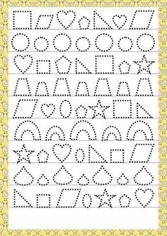 Trace the Dotted Lines Worksheets for Kids - Preschool and Kindergarten Preschool Writing, Preschool Education, Preschool Learning, Teaching Kids, Tracing Worksheets, Kindergarten Worksheets, Worksheets For Kids, Preschool Activities, Autumn Activities