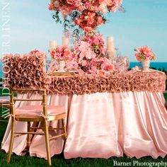 I am a simple girl. I like things neat and clean. Even in design. Today I went to check out a new linen st. Wedding Chairs, Wedding Reception, Wedding Tables, Pretty In Pink, Perfect Pink, Reception Decorations, Table Decorations, Centerpieces, Simple Girl