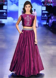 New Purple Taffeta Silk Designer Lehenga Choli
