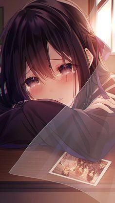 Dark Anime Girl, Manga Anime Girl, Cool Anime Girl, Anime Girl Drawings, Cute Anime Pics, Sad Anime, Beautiful Anime Girl, Anime Neko, Kawaii Anime Girl
