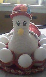 LUCIANA ROGERIA MARAVILHA DO TRICÔ: Passo a Passo galinha porta ovos.