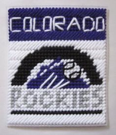Colorado Rockies tissue box cover in plastic canvas PATTERN ONLY