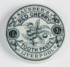 Pot lids are the lids or covers of small pottery jars which were used to hold a variety of products. Vintage Jars, Vintage Labels, Vintage Packaging, Veneers Teeth, Pots, Charcoal Teeth Whitening, Pot Lids, Teeth Care, Bottle Art