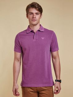 Barbour Washed Sports Polo Shirt - Plum
