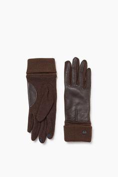 Esprit - Touchscreen Handschuhe, Strick und Leder im Online Shop kaufen