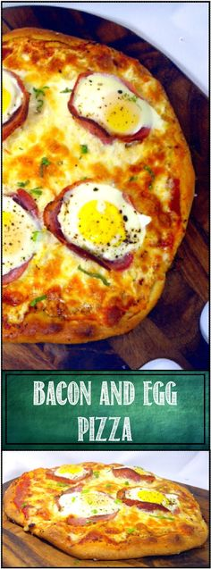 "Bacon and Egg Pizza (Uova e pancetta Pizza)... A classic Italian dish. ""Baked"" Eggs, baked in a Bacon Cup,surrounded by cheese, sauce and pizza dough. Dramatic, beautiful presentation but more importantly a delicious combination for breakfast, dinner or anytime! One of the most popular pizzas I make. Scratch recipes for dough, sauce and DETAILED PHOTO how to INSTRUCTIONS"