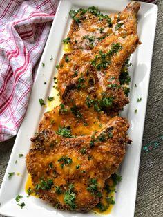 Crispy Honey Mustard Pork Chops Pork Chop Recipes, Grilling Recipes, Cooking Recipes, Honey Mustard Pork Chops, April Recipe, Longest Recipe, Crispy Pork, Baked Pork Chops, Easy Dinner Recipes