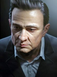 Johnny Cash (30 Photorealistic 3D Renders Of People)