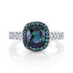 Omi Prive: Alexandrite and Diamond Ring