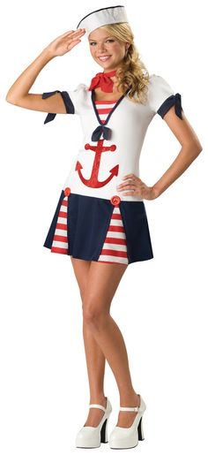 halloween costumes tween Get gorgeous with Sassy Sailor Teen Costume. Special Collection of Patriotic Costumes for Halloween at PartyBell. Sailor Halloween Costumes, Patriotic Costumes, Halloween Costumes For Teens Girls, Cute Costumes, Halloween Fancy Dress, Girl Costumes, Costumes For Women, Halloween City, Adult Halloween