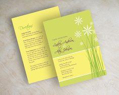 Daisy wedding invitation daisy flowers daisy by appleberryink