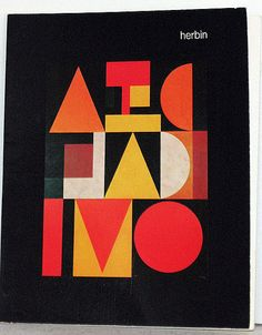 Herbin: The Plastic Alphabet, 1973 (Reference Library, flickr) #geometric #graphic #type