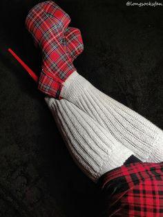 Thigh High Socks, Thigh Highs, Slouch Socks, Hot High Heels, Tartan, Tights, Lingerie, Socks, High Heeled Footwear